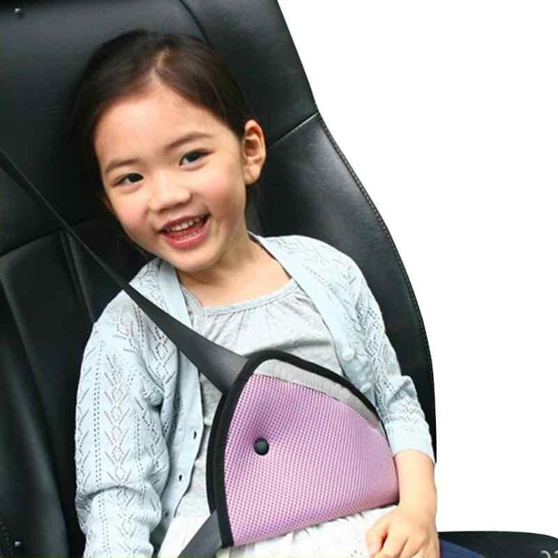 Cinturón de seguridad ajustador de seguridad triángulo bebé chico saft Dispositivo de coche Auto seguridad hombro arnés correa cubierta niño cuello proteger posicionador