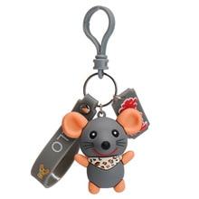 Creative cute cartoon Epoxy mouse keychain Korean version ins personality trend couple key chain bag pendant