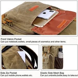 Image 5 - Waterproof DLSR Backpack Camera Bag Large Size Photo Bag Batik Canvas Outdoor DLSR Camera Lens Bag Backpack for Canon Nikon Sony