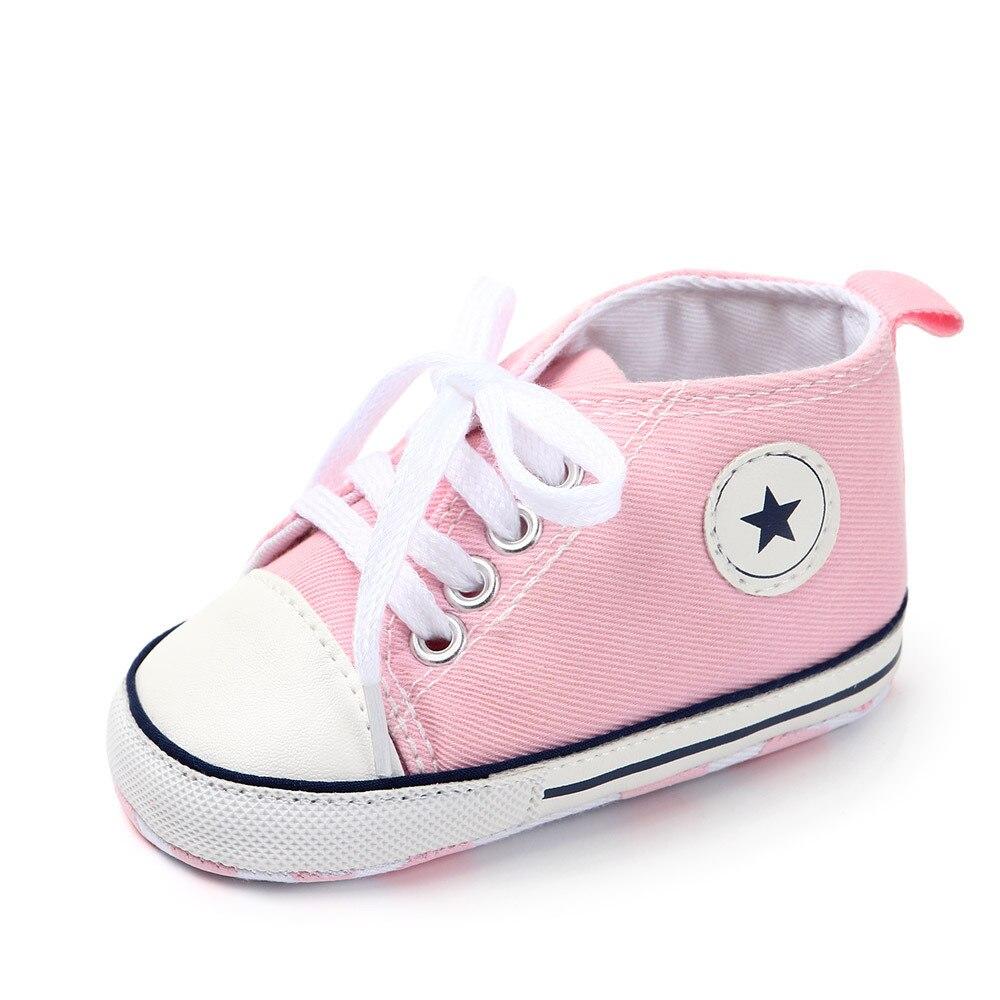 Chaussures bébé Garçon Fille Solide Sneaker Coton Doux Semelle Antidérapante Nouveau-Né Infantile Premiers Marcheurs Bambin décontracté Sport Chaussures de Berceau 29