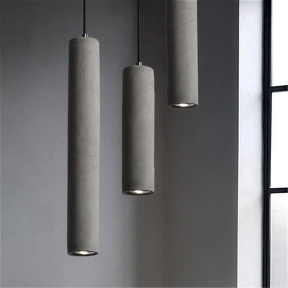 Купить светодиодная современная геометрическая цементная люстра для