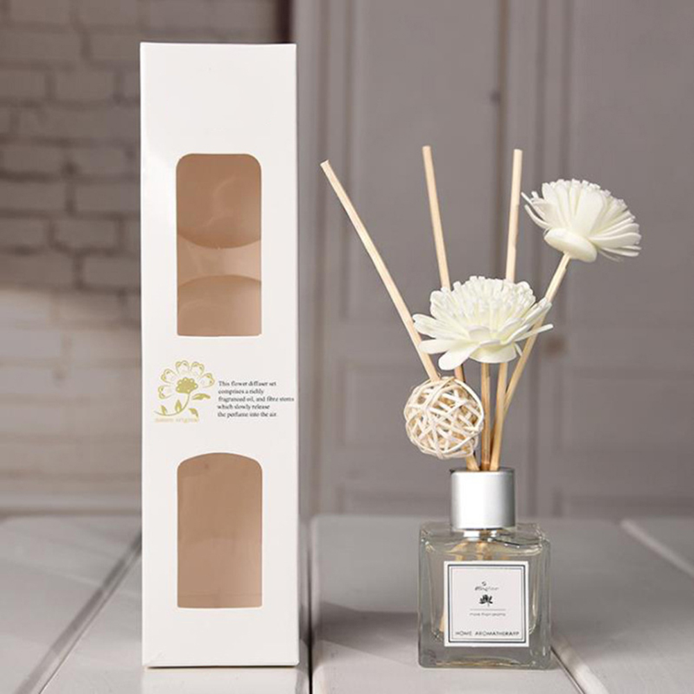 50ml Glass Bottles AirFresherEssential OilReed Flameless Aromatherapy Diffusers Air Freshener Set Bathroom Home Decoration