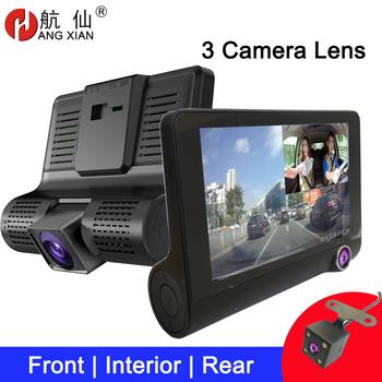 Kamera na deskę rozdzielczą 4 #8221 trójdrożny wideorejestrator samochodowy FHD trzy soczewki wideorejestrator kamera 170 szerokokątna kamera na deskę rozdzielczą g-sensor i kamera noktowizyjna tanie i dobre opinie ZHUIHENG CN (pochodzenie) Chipset firmy SUNPLUS Przenośny rejestrator Klasa 10 use the car charger 170° Samochód dvr