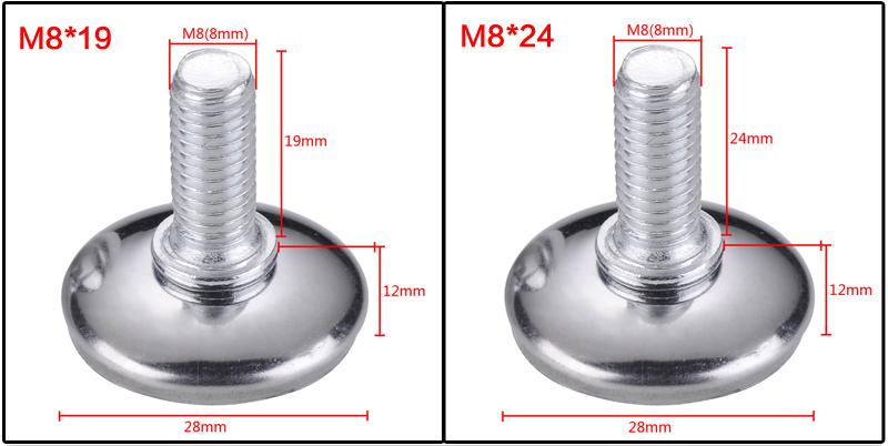 25 mm Meister 644236 Patine para desplazar muebles marr/ón Set de 20 Piezas