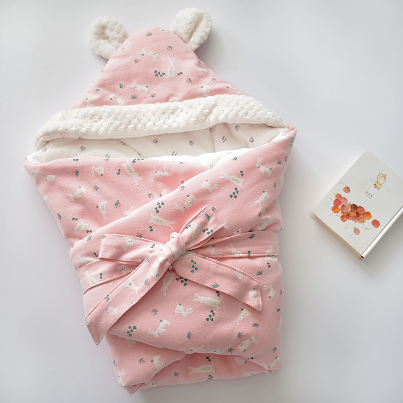 MOTOHOOD Winter Baby Blankets Newborn Swaddle Muslin Swaddle Baby Wrap Warm Baby Blanket Cotton Stroller Blankets  (4)