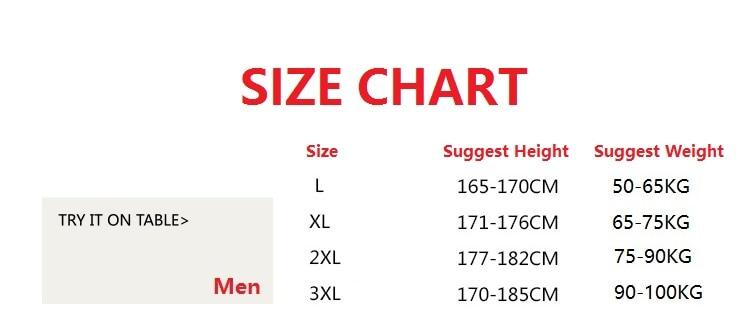 男尺码L-3XL