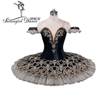 New Arrival!black gold classical ballet costumes,professional tutu,pancake tutu,girls tutuBT9071