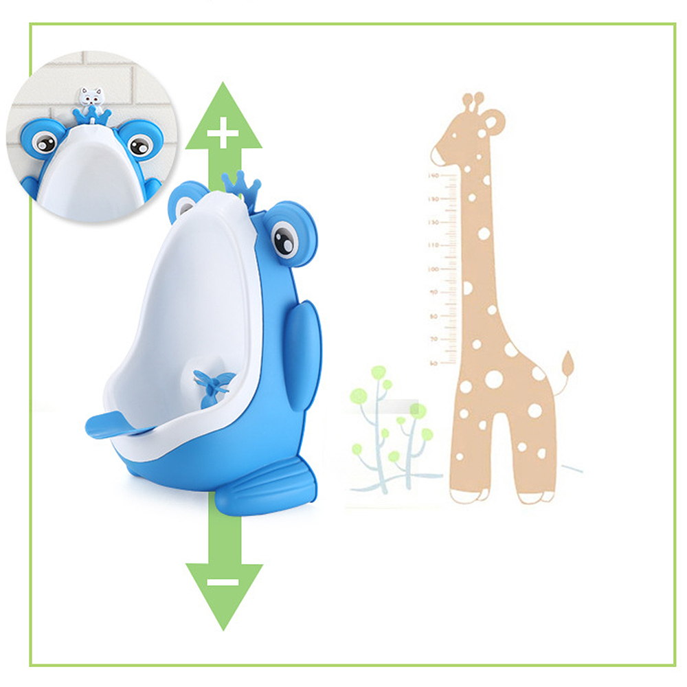 Baby Boy Potty Toilet Training Frog Kids Children WC Stand Vertical Urinal Infant Toddler Wall-Mounted Potty High Quality image