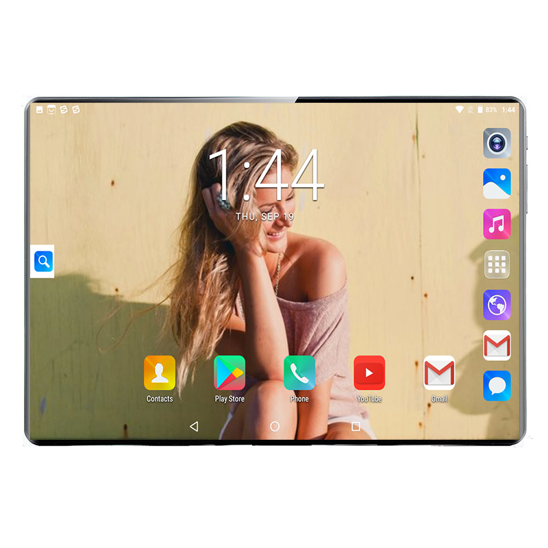2021 Hot Sale Super 2.5D Tempered Glass 10 inch 4G LTE Android 9.0 10 Core 6GB RAM 128GB ROM Wifi IPS Tablets 10 10.1