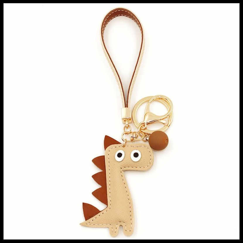 2019 NEW Cute Cartoon Dinosaur Keychains Women Girls Charm Bags key chain Accessories Car Pendant Lovers Key ring Wholesale