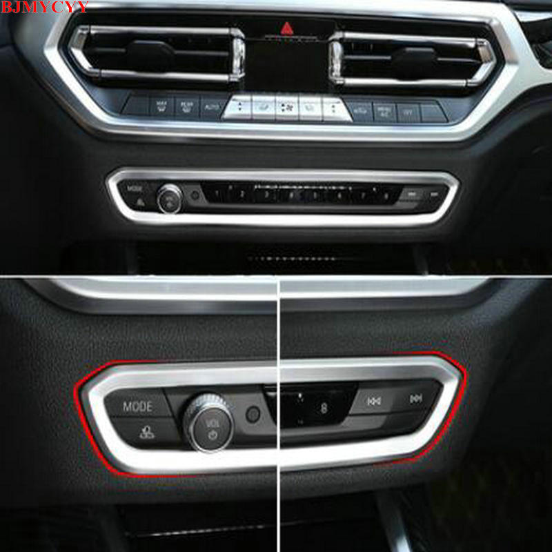 BJMYCYY for BMW 3 Series G20 G28 325li 2020 ABS decorative frame of <font><b>car</b></font> central <font><b>control</b></font> volume panel image