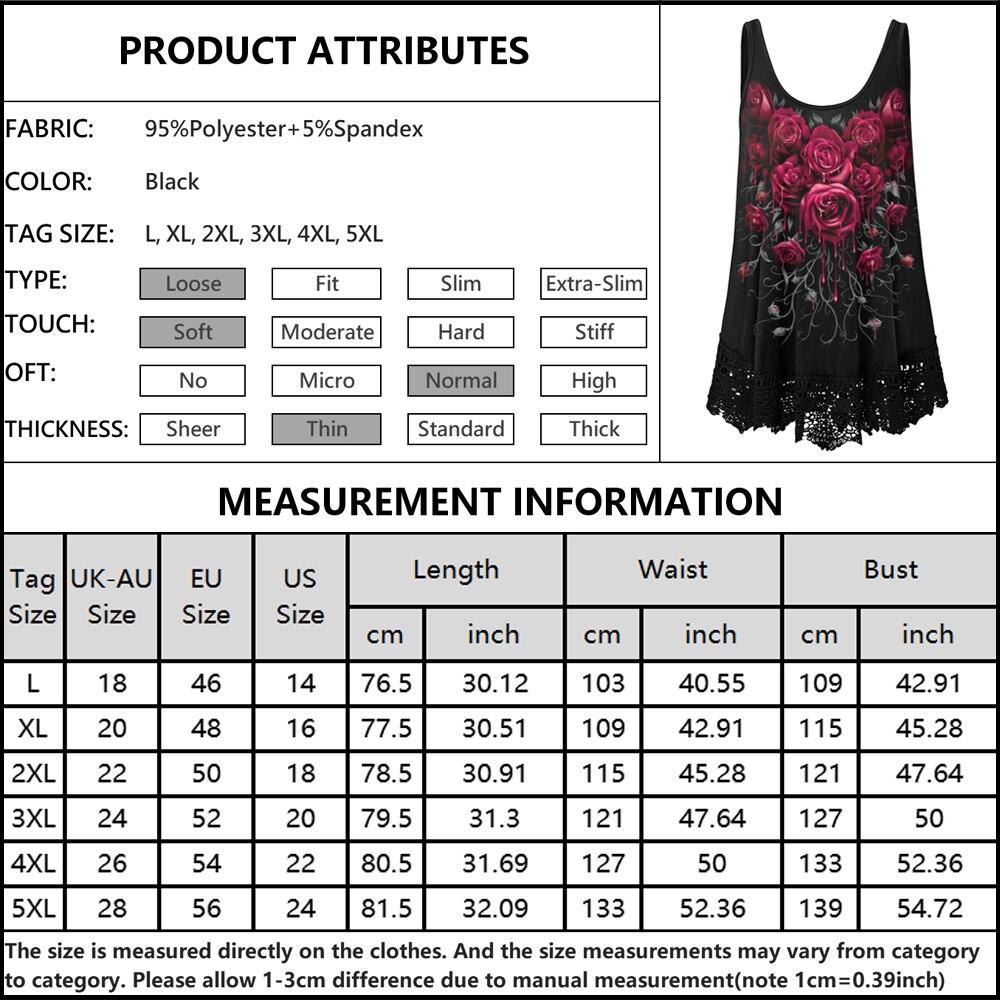 Clothing Sleeveless Vest T Shirt Dark Rose Floral  5