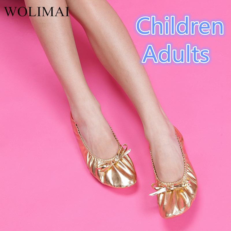 Belly Dance Shoes PU Top Gold Soft Indian Women's Dance Ballet Shoes Leather Belly Dance Ballet Shoes Kids For Girls Women