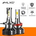 HLXG H7 светодиодный H4 H11 автомобильный головной светильник, лампа мини турбо светодиодный H8 HB4 HB3 9005 9006 H1 12000LM 20000LM светодиодный светильник для а...