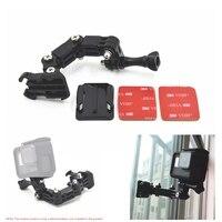 Motorrad Helm Montieren Curved Adhesive Arm Für Xiaomi yi 4K Gopro Hero 8 7 6 5 4 SJCAM sj4000 eken H9 Action Kamera Zubehör