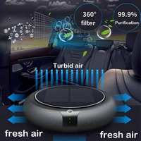 Vehicles Air Purifier Portable Solar Powered Rechargeable USB Air Cleaner Travel Freshener