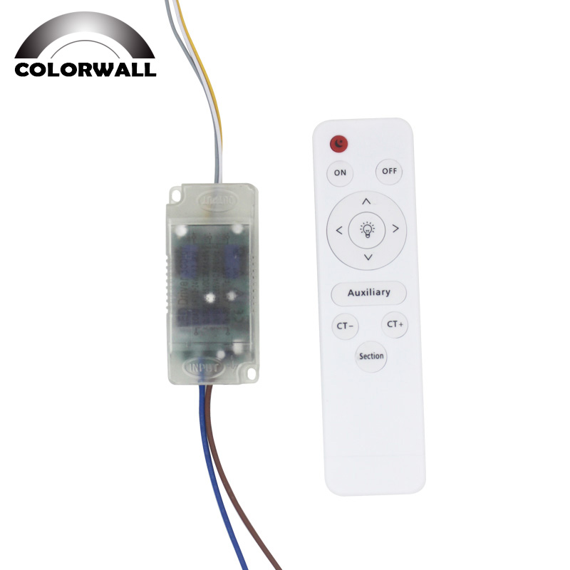 <font><b>12</b></font>-24Wx2 <font><b>LED</b></font> 3 Color Plastic Driver AC165-265V Drive Power Supply Transformer for <font><b>LED</b></font> Lighting with Infrared Remote Control image