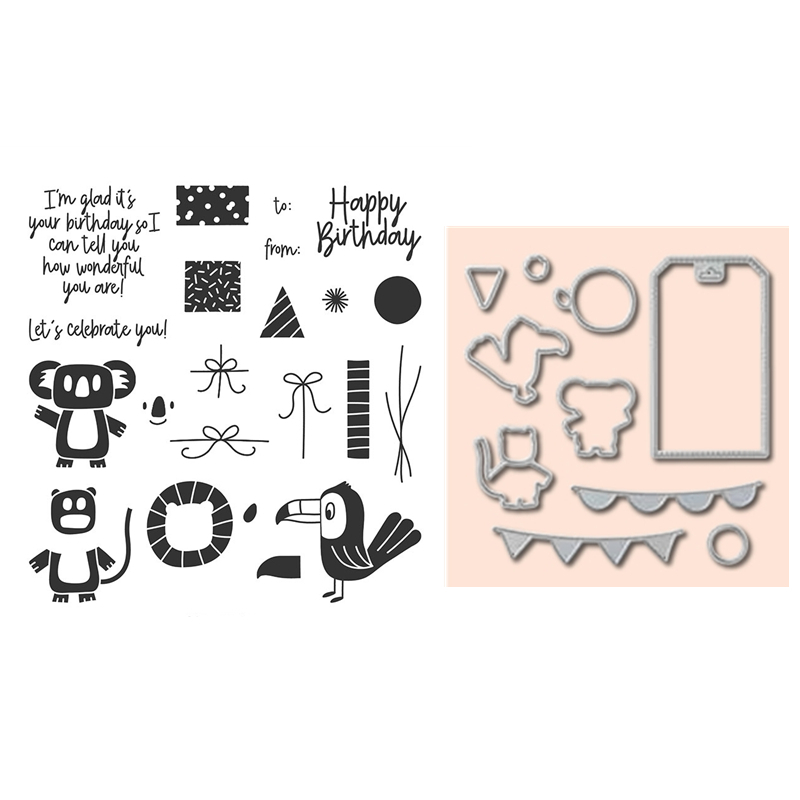 2020 3D DIY New Layer Metal Cutting Dies And In Scrapbooking For Paper Making Animals=Embossing Frame Card Craft Stamps Set