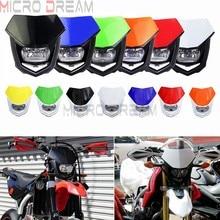 13 cores universal 12v h4 farol carenagem motocross enduro supermoto da bicicleta sujeira cabeça máscara de luz para honda yamaha kawasaki