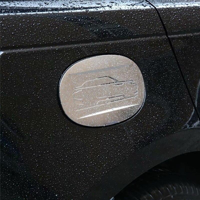 WELKINRY car auto cover for Range Rover Evoque L551 2019 2020 ABS chrome car body oil gasoline fuel tank lid cap trim|Chromium Styling| |  - title=