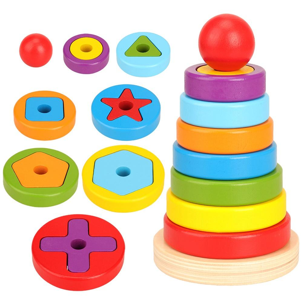 Rainbow Designs PADDINGTON FOR BABY STACKING RINGS Baby Toys Activities BN