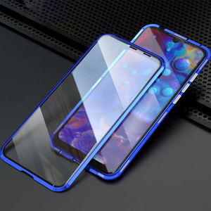 Image 2 - 360 çift şeffaf cam manyetik Metal kasa Xiaomi Redmi için K20 not 7 8 Pro Mi Cc9 Cc9e 9 Se 9t not 10 Pro 128gb küresel kapak