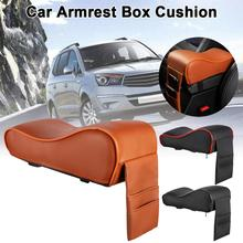 Car Heightened Pad Cushion Car Central Console Armrest Box Soft Comfort Leather Memory Cotton Car Armrest Box Pad Car Styling pu leather universal car center console armrest cushion memory foam interior styling armrest box pad covers