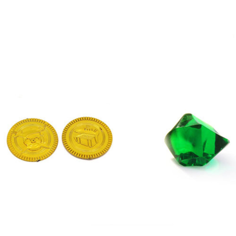 100 <font><b>X</b></font> Fake Gems Diamonds And 20pcs Pirate Coins <font><b>Treasure</b></font> Children Play <font><b>Toy</b></font> New Arrival Hot image