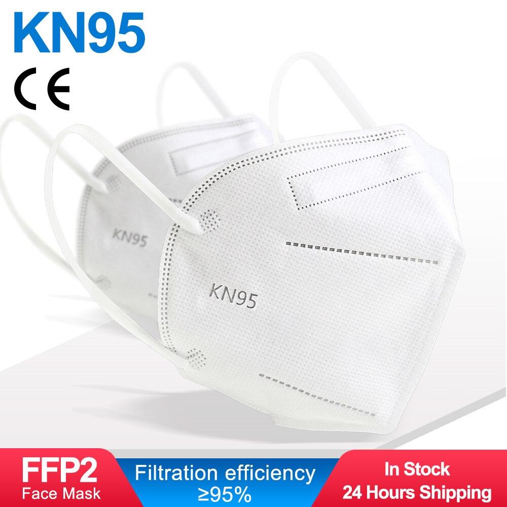 5-100 шт. маска на лицо KN95 маски для лица FFP2 CE фильтр Маска ffpp2 маске de filtro antipolvo máscara mascarillas mascherine tapaboca