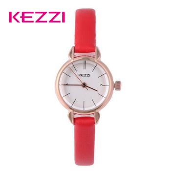 NO.2 Kezzi Ladies Red Dress Watch For Women Leather Waterproof Quartz Watches Female Girl Simple Dial Wristwatch 2019 New