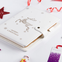 Cute Christmas Planner 2020 Notebook A5 Binder Bullet Journal Organizer Spiral Diary Plan Note Book Line Handbook Stationery Set jamie vigorous double color spiral notebook a5a6 binder planner bullet journal daily planner 2018 chancellory vintage stationery