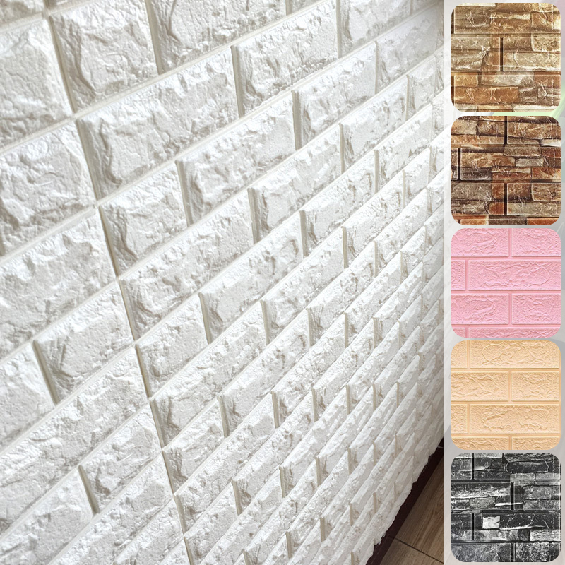 Домашний декор, 3D Наклейка на стену, имитация кирпичной кладки, спальня, водонепроницаемые самоклеящиеся обои для гостиной, детской, фон для...