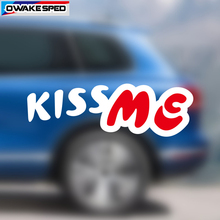 цена на 25cm KISS ME Vinyl Decals Car Front Rear Windshield Decor Stickers Customized Text Auto Body Door Waterproof Decal