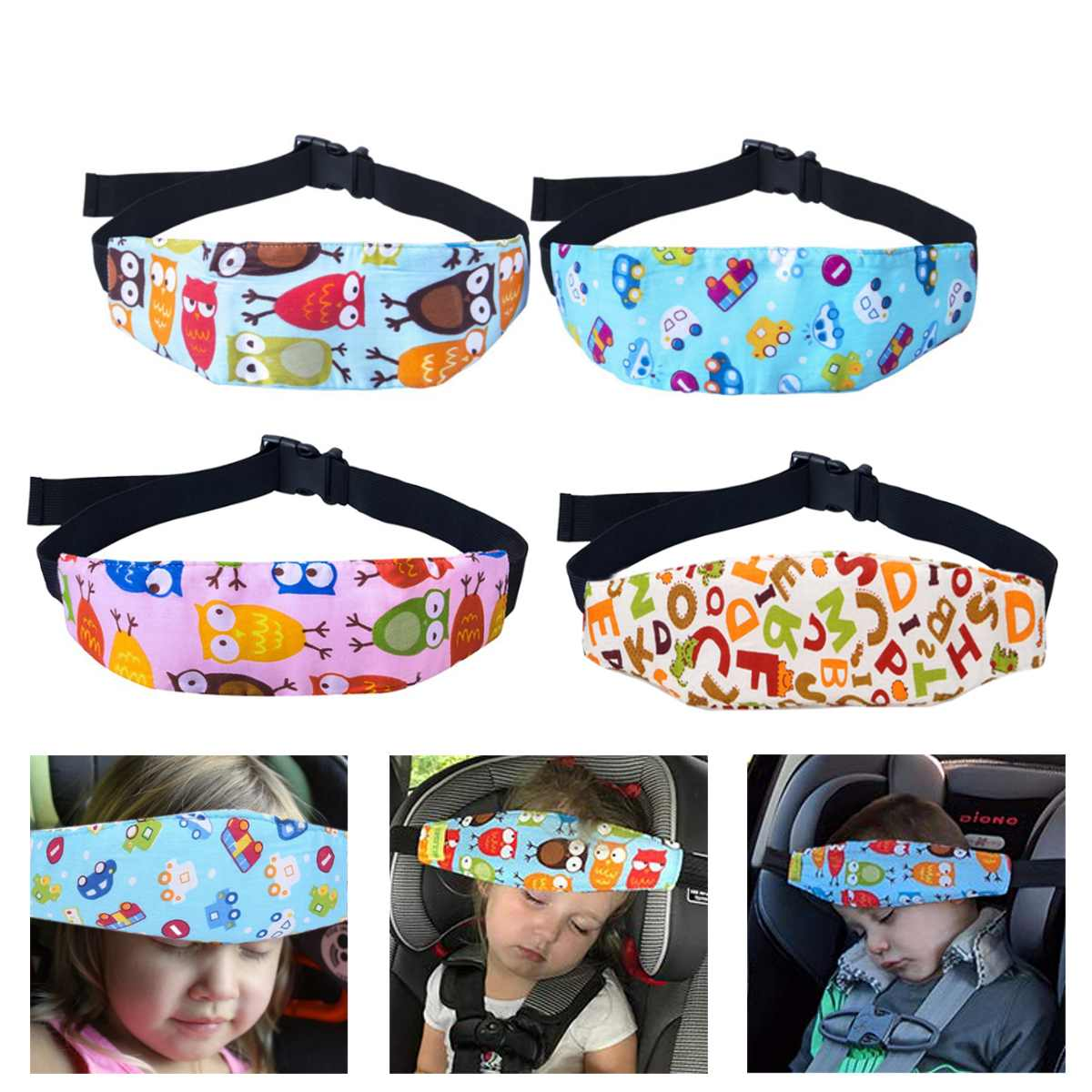 Safety Car Seat Sleep Nap Aid Child Kid Head Support Holder Protector Belt Stroller