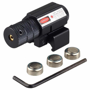 Poderosa Tactical Mini Red Dot Laser Sight Scope Weaver Picatinny Mount Set para Rifle Pistola Tiro Airsoft Caça Riflescope Lasers     -