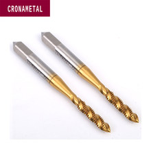 CRONAMETAL UNC threading tool standard HSS Spiral Fluted Taps with TIN coating thread machine tap