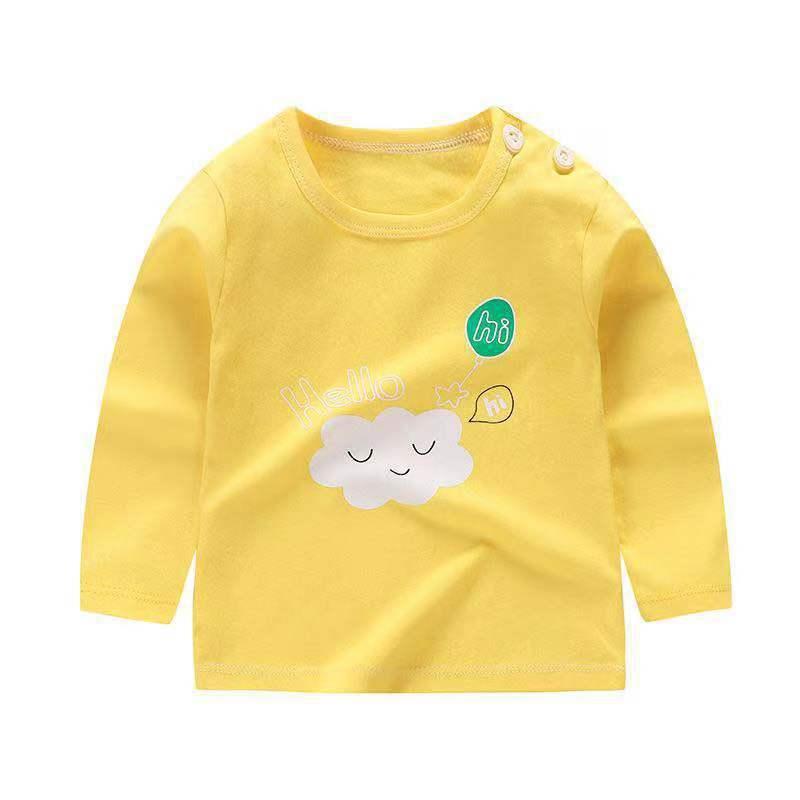 2019 Boy Clothes Cotton T-shirt Long Sleeve Children Tee Shirts Full Sleeve Baby Girl Tops Spring&autumn KidsTop Girls Tops