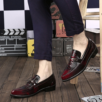 Genuine Leather Formal Men Shoes Classic Quality Oxford Shoes for Men Formal Dress Patent Leather Loafers Men Shoes Wedding shoes mens dress shoes genuine leather blue purple oxfords men wedding shoes party whole cut formal shoes for men
