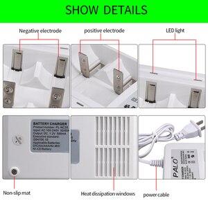 Image 4 - Умное зарядное устройство PALO со светодиодным дисплеем для аккумуляторных батарей 1,2 в Ni CD Ni mh AA/AAA/C/D