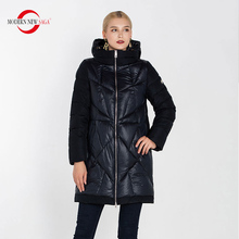 Padded Coat Jacket Parka MODERN Winter Warm Plus-Size Ladies Cotton NEW SAGA Long