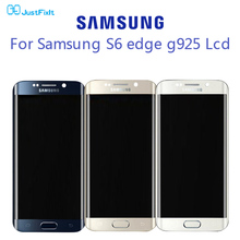 Burn-in shdaow screen For Samsung Galaxy S6 Edge G925F LCD Display Touch Screen Digitizer Assembly 100% Original Super Amoled