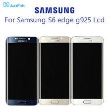 Burn-in shdaow bildschirm Für Samsung Galaxy S6 Rand G925F LCD Display Touchscreen Digitizer Montage 100% Original Super amoled