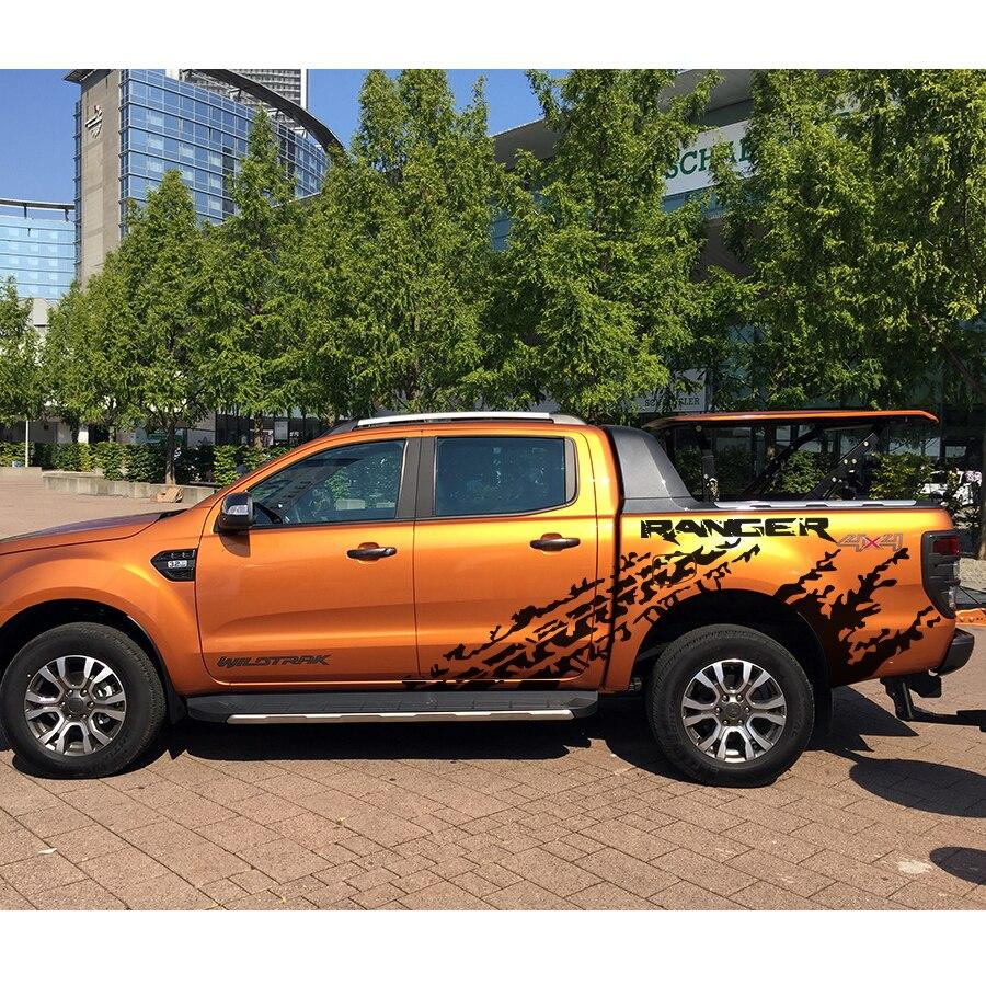 Mudslinger отметки шин с ranger тело задний хвост сторона графическая виниловая Автомобильная наклейка для ranger 2012 2017