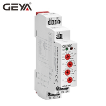 Free Shipping GEYA GRV8-04 3 Phase Voltage Protector Phase Sequence Phase Failure Over Voltage Undervoltage Protection Relay the phase protection relay 380v power broken phase fault phase overvoltage and undervoltage detection monitoring rd6 w