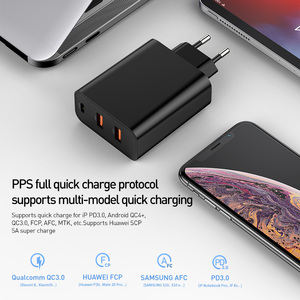 Image 3 - Baseus 3ポートusb急速充電器60ワットサポート急速充電4.0 3.0タイプc pd充電器qc 4.0 3.0電話充電器forhuawei forxiaomi