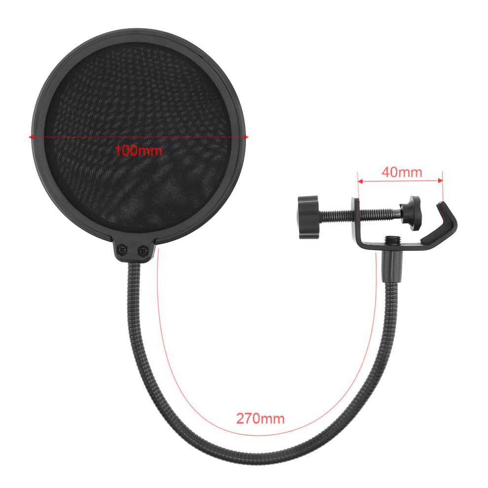 Durable Double Layer Windscreen Studio For Recording Filter Screen Speaking Bilayer Microphone Shield Wind Flexible Mask Mic