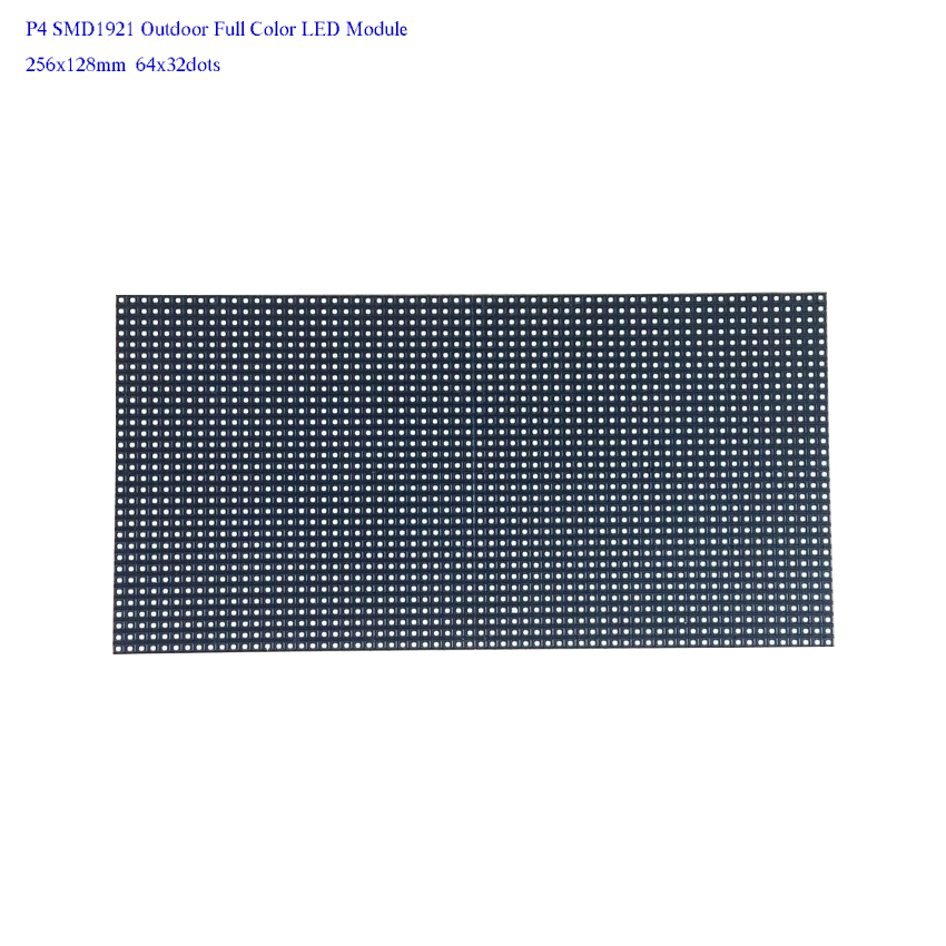 Outdoor LED Display Advertising Billboard P4 Smd 256*128mm Full Color Led Module For LED Video Wall