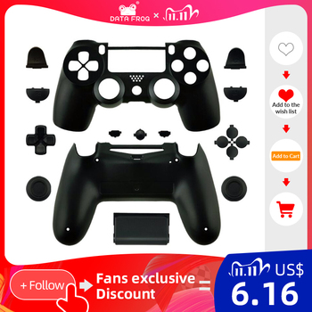 Data Frog Replacement shell and buttons mod kit For jds 040 DualShock 4 PlayStation 4 PS4 Pro Slim Controller Housing Cover Case