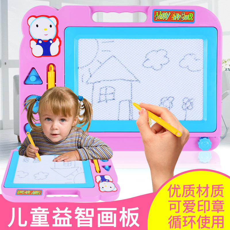Children'S Educational Magnetic Black And White Drawing Board Baby Doodle Board Early Education Painted Writing Board Toys