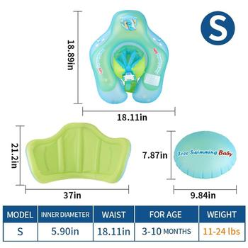Inflatable Baby Swimming Float With Canopy Infant Kids Swim Pool Accessories Circle Bathing Toddler Rings Summer Water Toys - FB6013S